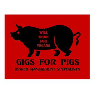 Carruajes para los cerdos postales