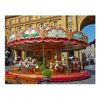 Carrusel antiguo de Florencia Italia Postales
