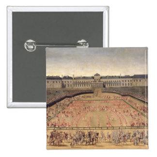 Carrusel dado para Louis XIV Pin Cuadrado