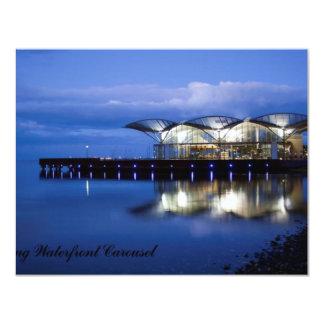 Carrusel de la costa de Geelong Invitación 10,8 X 13,9 Cm