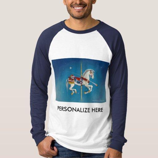 Carrusel de las camisetas de la manga de raglán -