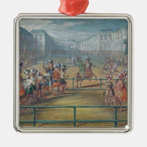Carrusel de los Amazonas en 1682 Adorno Para Reyes