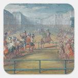 Carrusel de los Amazonas en 1682 Pegatinas Cuadradases
