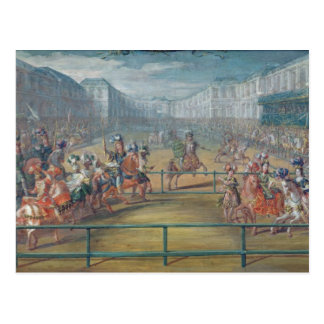 Carrusel de los Amazonas en 1682 Postal