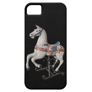 Carrusel de madera de la antigüedad del caballo - funda para iPhone 5 barely there
