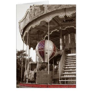 Carrusel de París Tarjeta De Felicitación