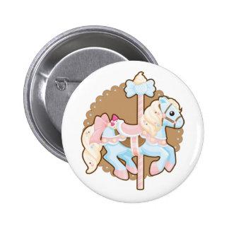 Carrusel del helado pin redondo 5 cm