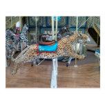 Carrusel del leopardo tarjetas postales