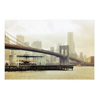 Carrusel del puente de Brooklyn Fotografía