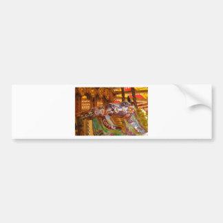 carrusel del victorian pegatina de parachoque