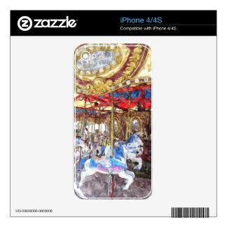 Carrusel del Watercolour Calcomanía Para El iPhone 4