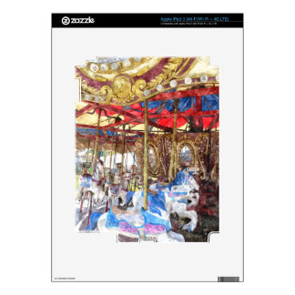 Carrusel del Watercolour iPad 3 Pegatina Skin