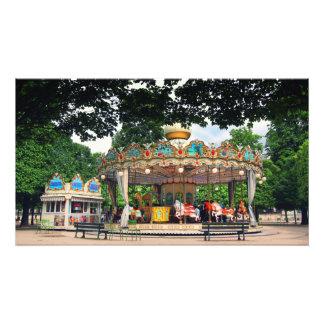 Carrusel en el Tuileries, París, Francia Impresion Fotografica