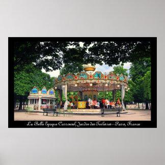 Carrusel en el Tuileries, París, Francia Póster
