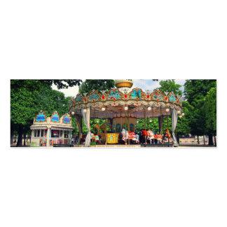 Carrusel en el Tuileries, París, Francia Tarjetas De Visita
