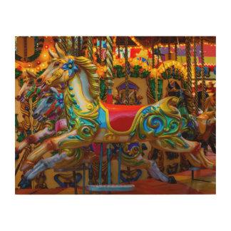 Carrusel en la lona de madera - SRF Impresión En Madera