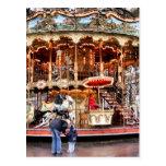 Carrusel en Montmartre Postal