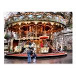 Carrusel en Montmartre Tarjeta Postal