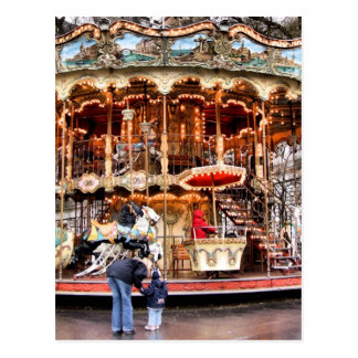 Carrusel en Montmartre Postales