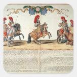 Carrusel por el frente de Louis XIV de Tuileries Pegatina Cuadrada