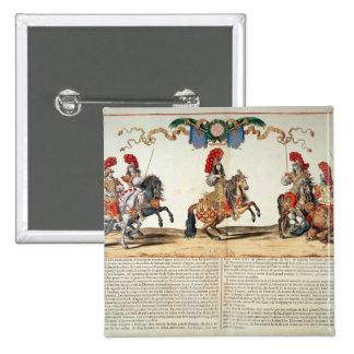 Carrusel por el frente de Louis XIV de Tuileries Pin Cuadrado