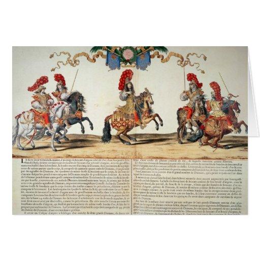 Carrusel por el frente de Louis XIV de Tuileries Tarjeta De Felicitación