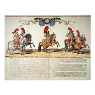 Carrusel por el frente de Louis XIV de Tuileries Postal