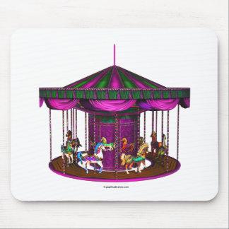 Carrusel púrpura alfombrillas de ratones