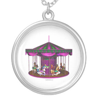 Carrusel púrpura colgante redondo