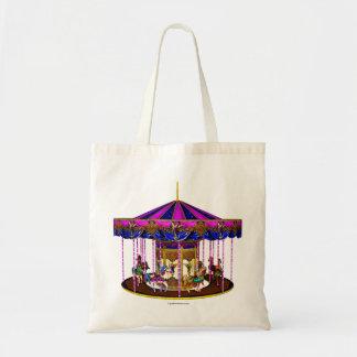 Carrusel rosado bolsa tela barata