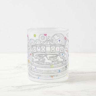 Carrusel Taza Cristal Mate