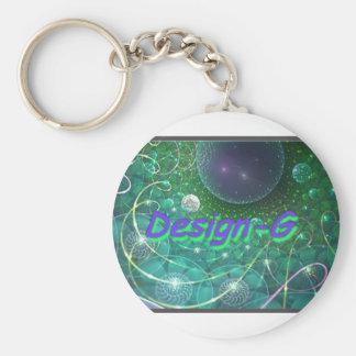 Carry Clefs Design-G Basic Round Button Keychain