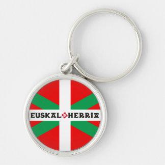 """Carry Clés Flag Basque """"Ikkurina """" Keychain"""