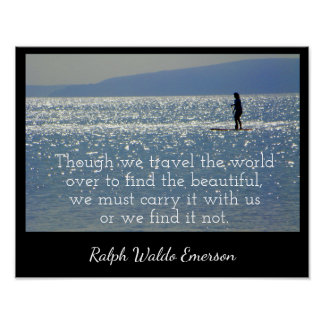 Carry it with us - Print  - Emerson quote