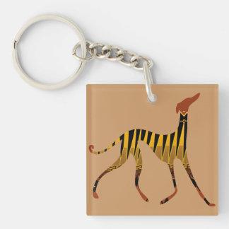 Carry key Azawakh sands Single-Sided Square Acrylic Keychain