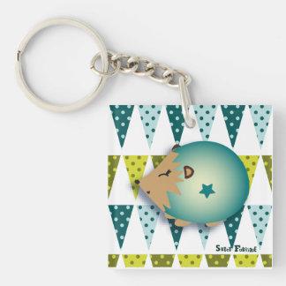 "Carry-key ""blue Hedgehog"" - collection Kiwi Fraud Single-Sided Square Acrylic Keychain"