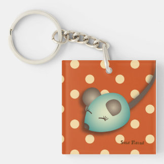"""Carry-key """"green Mouse"""" - collection Kiwi Fraud Single-Sided Square Acrylic Keychain"""
