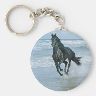 Carry key horse basic round button keychain