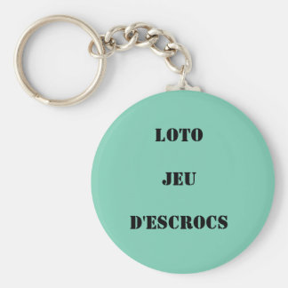 """carry-key """"lotto set of swindlers """" basic round button keychain"""