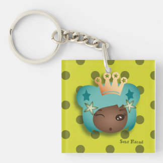 """Carry-key """"Mongrel Miss"""" - collection Kiwi Fraud Single-Sided Square Acrylic Keychain"""