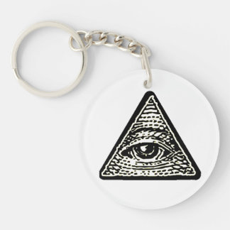 Carry-key Oeil round which sees all Keychain