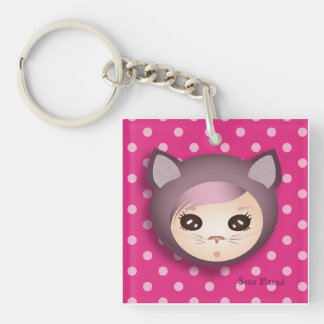 "Carry-key ""Pink Kitty"" - collection Kiwi Fraud Keychain"