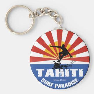 carry key Tahiti Basic Round Button Keychain