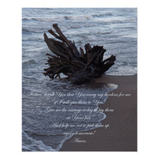 Carry my burdens Inspirational poster Print