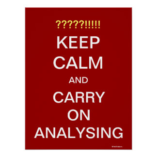 Carry On Analysing Motivational Analyst Slogan Poster