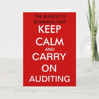 Carry on Auditing - Funny Auditor Birthday Card card