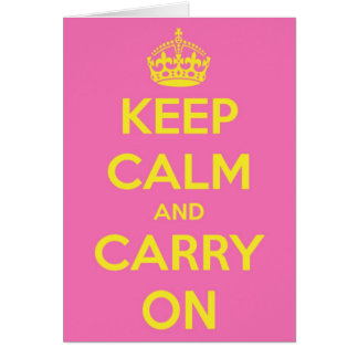 Carry On Bubblegum and Sunshine Greeting Cards