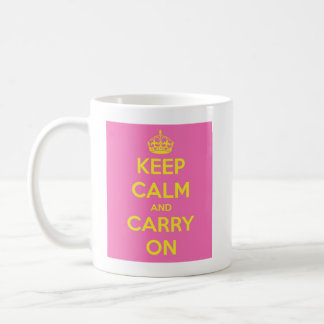 Carry On Bubblegum and Sunshine Coffee Mug