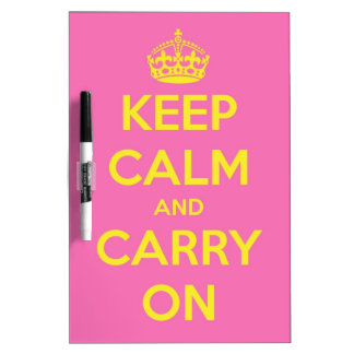 Carry On Bubblegum and Sunshine Dry Erase Board