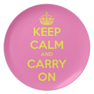Carry On Bubblegum and Sunshine Plate